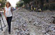 """Пренареждат паветата след ремонта на булевард """"Дондуков"""""""