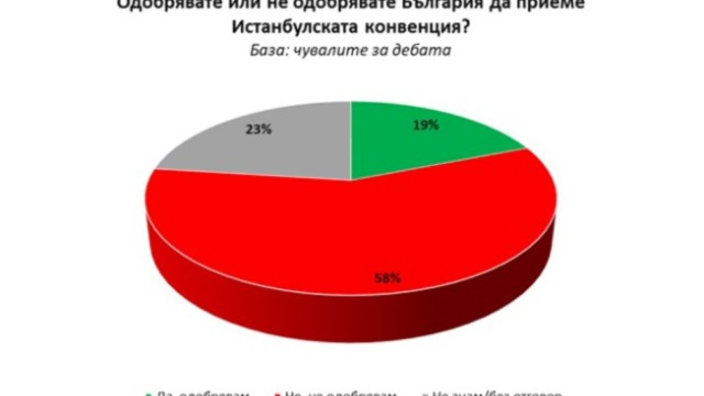 """""""Галъп"""": Едва 19% одобряват Истанбулската конвенция"""