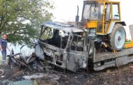 Огнена вендета! Подпалиха автопарка на ломска фирма!