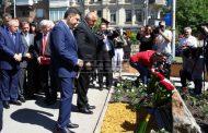 Откриха площад и мемориална плоча на името на Димитър Пешев в Киев по време на визитата на Бойко Борисов