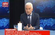 Волен Сидеров: Защо България купува най- скъпо самолетите F 16 при положение, че САЩ вече над 12 години ползват безплатно 4 военни бази у нас?