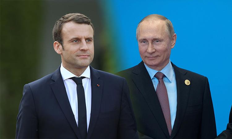 Президентът на Русия Владимир Путин и президента на Франция с телефонен разговор за нова година