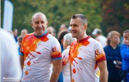 Президентът Румен Радев тича благотворително