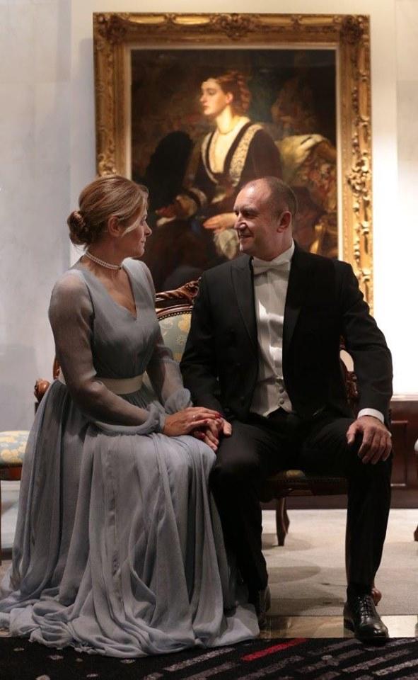 Президентът Румен Радев и съпругата му Десислава Радева на интронизацията на японския император Нарухито.