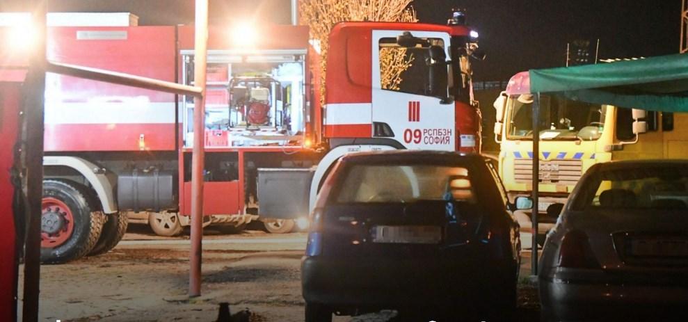 Пожар избухна в столицата, в района на психодиспансера при Сточна гара