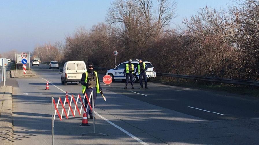 ГДБОП и прокуратурата провеждат акция в Бургас. Пътят е затворен