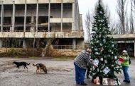 Декорираха коледно дърво в Припят-призрачния град на Чернобил