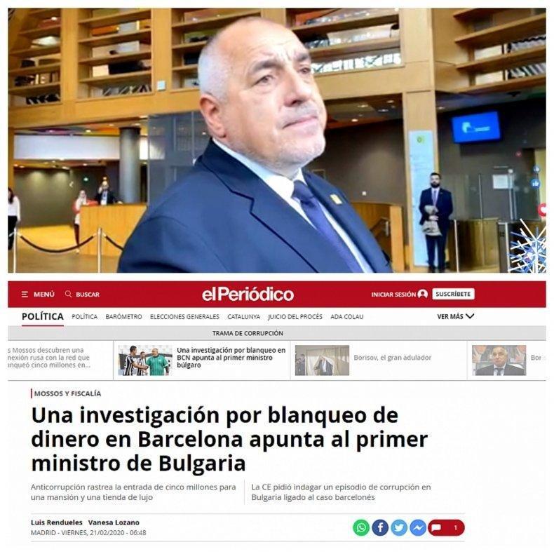 Пиар акцията с коронавируса за отклоняване на вниманието от испанското разследване срещу Борисов за пране на пари вече влезе в комична фаза