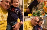 Борисов подари рибки на внука си Бойко!