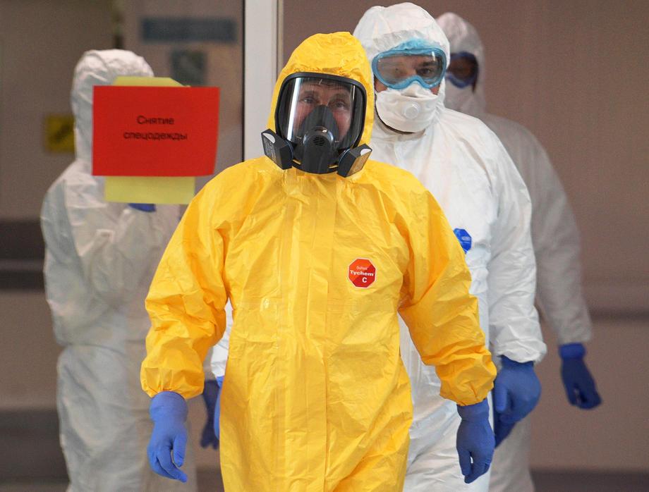 Путин посети болницата Комунарка в Москва и инспектира как се лекуват болни от COVID – 19 .