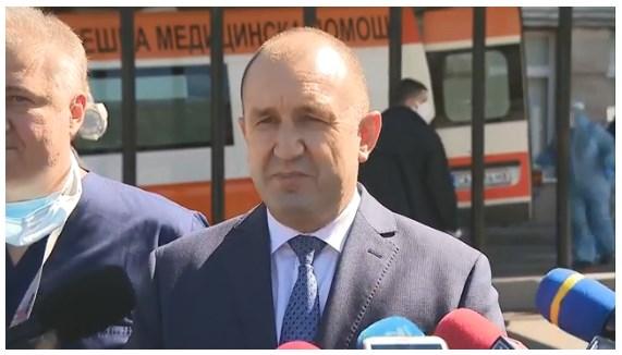 Румен Радев: Не приемам Борисов да се прави на спасител на нацията върху страховете на хората и да ги плаши с трупове!