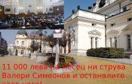 Един български депутат ни струва повече от 11 000 лева на месец!