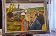 """Борисов лъсна на портрет, който увековечава строителството на """"Турски поток"""" през България!"""