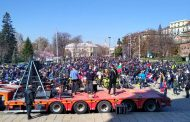 """Днес хиляди мотористи откриха мотосезона пред """"Александър Невски"""" в столицата."""